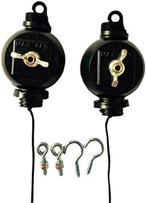 rostfrei G-E Easy Rolls Lot de 2 Lampes et r/éflecteurs en continu Stahl