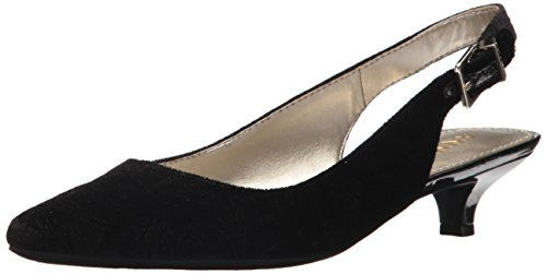 Anne Klein Women's Expert Velvet Pump, Black, 11 M US by Anne Klein