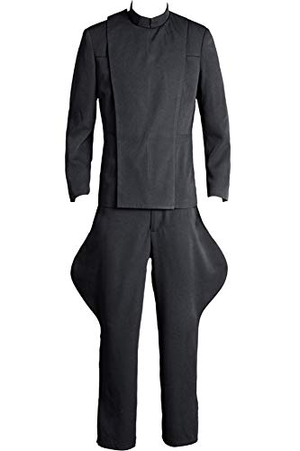 (Cosplaysky Men's Halloween Costume Officer Uniform Outfit Grey Version)