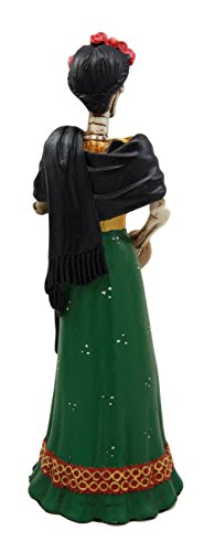 Ebros Gift Mexican Dias De Los Muertos La Pintora Mexican Lady Skeleton Day of The Dead Decor Figurine 8.25 H As Halloween Ossuary Macabre Statue Graveyard Skulls and Skeletons Themed Sculpture