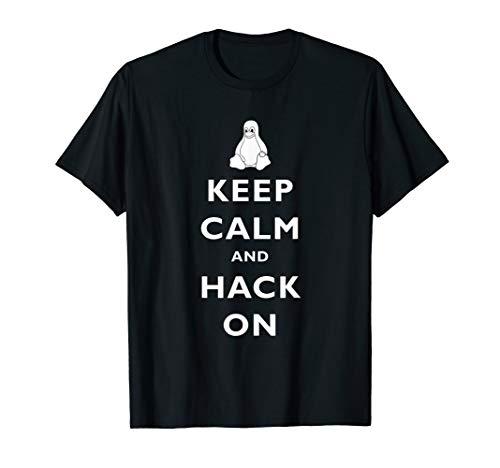 Linux Sysadmin Keep Calm Hack On T-Shirt Gift Men Women Kids