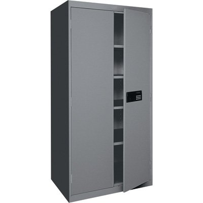 Sandusky Lee EA4E362472-02 Storage Cabinet with Keyless Electronic Lock Handle Elite with Adjustable Shelves, 36