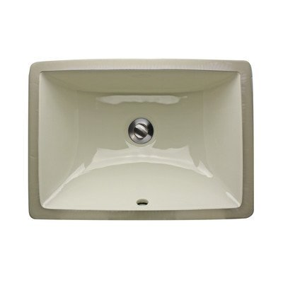 Nantucket Sinks UM-16x11-B 16-Inch x 11-Inch Rectangle Undermount Ceramic Vanity Bathroom Sink, Bisque by Nantucket Sinks by Nantucket Sinks