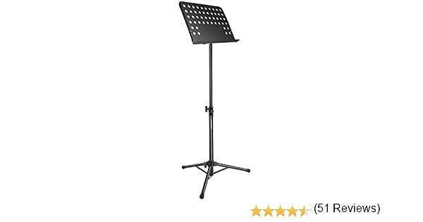 Neewer Soporte Musica Plegable de Partición con 63-109cm de Altura Ajustable y 180 Grados de Bbandeja de Inclinación,Duradero,Ligero y Portátil para Rendimiento Instrumental(Negro): Amazon.es: Instrumentos musicales