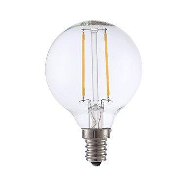 LPQ 2W E14 Ampoules à Filament LED G16.5 2 COB 200 lm Blanc Chaud Gradable 1 pièce