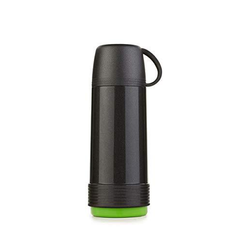 Valira Proterm Termo para liquidos de 0,75 L con Botella de Vidrio Aislante de Doble Pared Hecho en Espana, Color Negro-Verde, termica