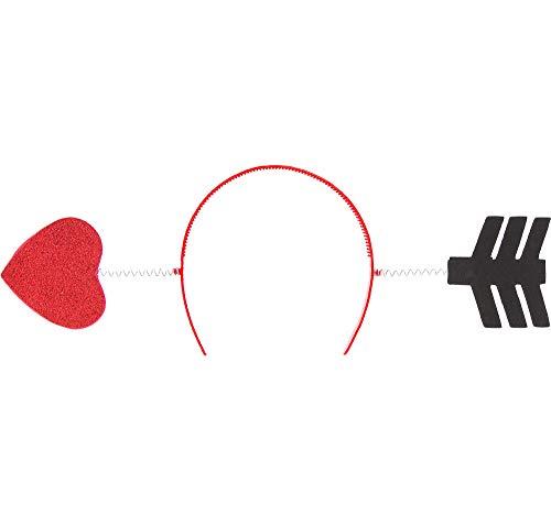 Amscan Valentine Red Glitter Arrow Headband | Party Accessory -
