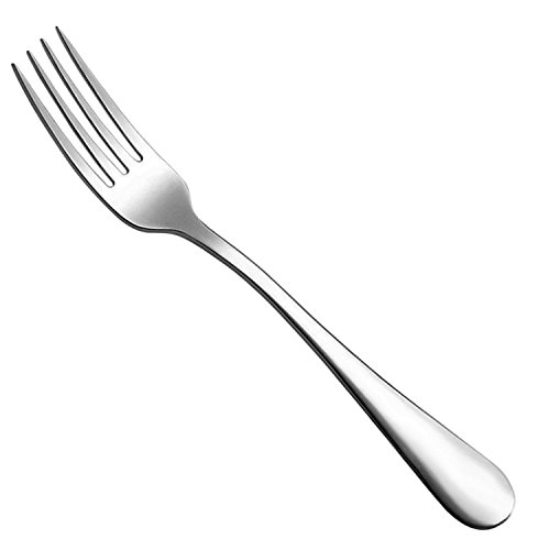 12-Piece Good Quality Stainless Steel Table Forks Cutlery Set,8 Inch ()