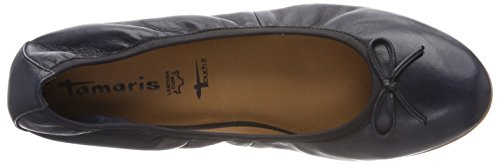 Tamaris Damen 22116 Geschlossene Ballerinas Blau (Navy Leather)