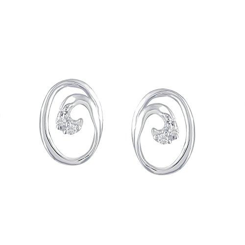 Giantti 14carats Diamant pour femme Boucles d'oreille à tige (0.02CT, VS/Si-clarity, Gh-colour)