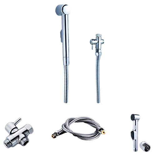 Sprayers 1 Set Flusher Handheld Bidet Toilet Sprayer Hygiene Bidet Shower Sprayer Pressurized Washing Faucet Toilet Spray Gun (Color : B) ()