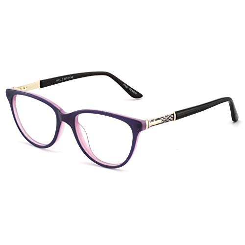 OCCI CHIARI Fashion Acetate Color Purple Eyeglasses Frame With Clear Lenses 52-17-140