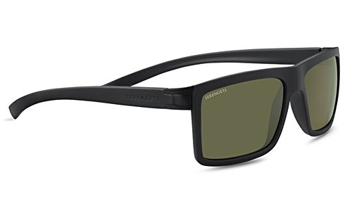 Serengeti Brera Sunglasses, Sanded Black/Satin Black by Serengeti