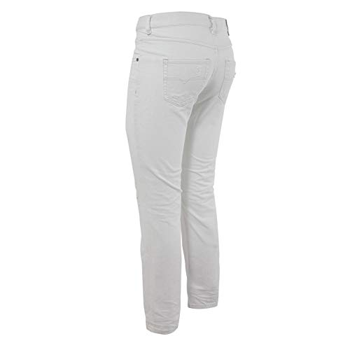 Diesel Straight Belthy ankle White Pantaloni Jeans Donna wr7rIq