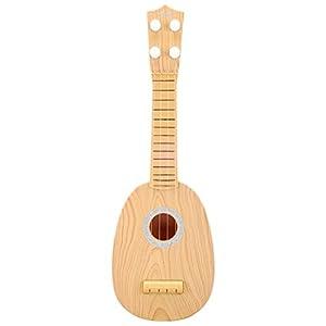 bestlee kids wooden ukulele toy guitar musical instrument wood c. Black Bedroom Furniture Sets. Home Design Ideas