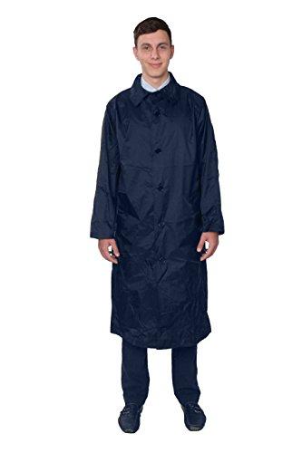 Fit Rite Men's Nylon lightweight Waterproof Raincoat - Zip in Hood,Large,Navy