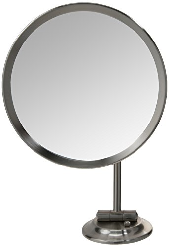 Mirror Image Single-Sided Round LED Lighted Magnified Make-up Mirror, Brushed Nickel (Wall Kitchen Mounted 944)