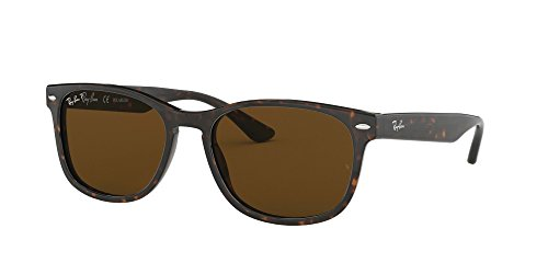 Ray-Ban RB2184 Square Sunglasses, Striped Tortoise/Polarized Crystal Brown, 57 mm (Ray-ban Brille Neues Modell)