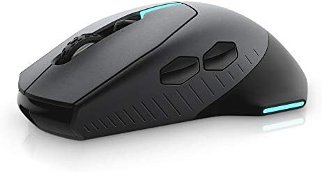 Alienware Wired/Wireless Gaming Mouse AW610M: 16000 DPI Optical Sensor – 350 Hour Rechargeable Battery Life – 7 Buttons – 3-ZONE Alienfx RGB Lighting 31E9klFDbwL