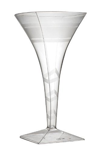 Fineline Settings Wavetrends Clear Square 8 oz. Martini Glass 72 Pieces by Wavetrends