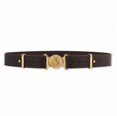 Galco Adjustable Shell Pouch Belt, Dark Havana Brown, Large (Belt Clays)