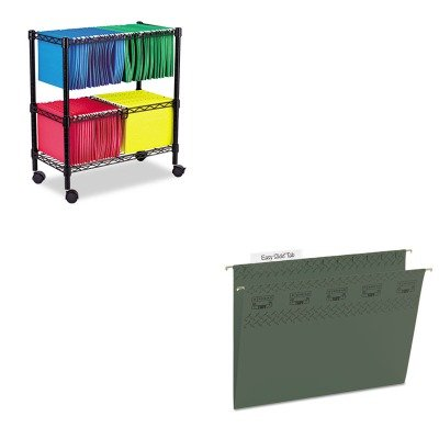 KITALEFW601426BLSMD64036 - Value Kit - Smead Tuff Hanging Folder with Easy Slide Tab (SMD64036) and Best Two-Tier Rolling File Cart (ALEFW601426BL) by Smead