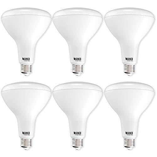 Sunco Lighting 6 Pack BR40 LED Bulb, 17W=100W, Dimmable, 2700K Soft White, E26 Base, Indoor Flood Light for Cans - UL & Energy Star