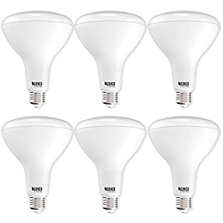 Sunco Lighting 6 Pack BR40 LED Bulb, 17W=100W, Dimmable, 4000K Cool White, E26 Base, Indoor Flood Light for Cans - UL & Energy Star