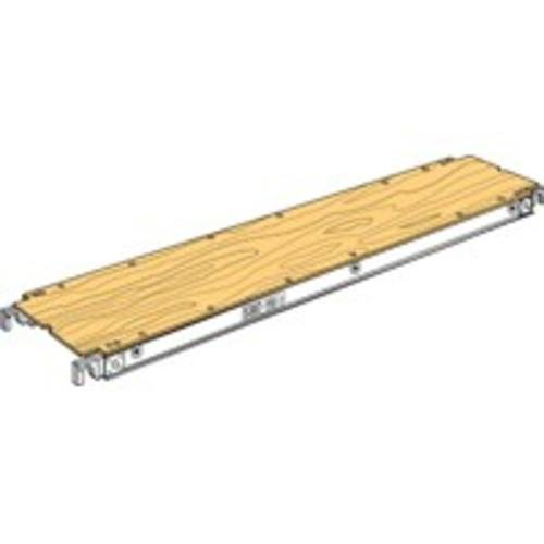 Werner 5307-19 75-Pound per Square-Foot Duty Rating Plywood Decked Aluma-Plank, 19-Inch Wide by 7-Feet Long