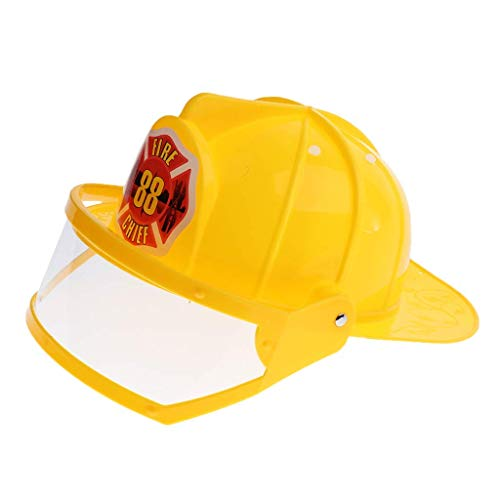 Fireman Helmet Kid Pretend Play Fireman Safety Helmet Firefighter Hat Costume Party Role Playing Toy -