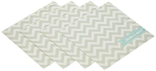 Ginger Ray Chevron Divine Paper Napkins, Grey