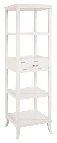 Bailey Street Living Room Accent Table - Sterling 6042694 Tamara Transitional Plantation Grown Hardwood Tower Table, 72-Inch, White