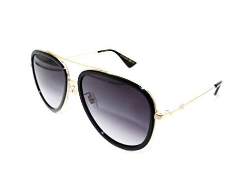 Gucci Grey Gradient Aviator Ladies Sunglasses GG0062S 007 ()
