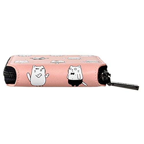 Billetera para mujer Billetera adorable para niña Billetera pequeña para mujer, Billetera de dibujos animados gato