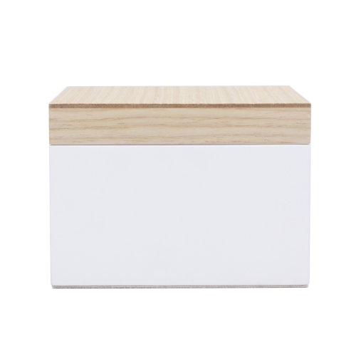 Wolf Designs Lacquer Wood Jewelry Box, Small, White