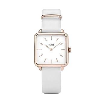 Cluse Reloj Analógico para Mujer de Cuarzo con Correa en Cuero CL60006: Amazon.es: Relojes