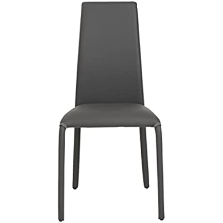 Euro Style Camille Soft Leatherette Side Dining Chair Set Of 4 Gray