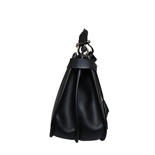 sac cuir Sac à bandoulière main en Isla Noir à italien Boldrini 0SwXqz