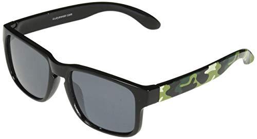 ICU Eco Kids Sunglasses - 1% for The Planet - Square Black/Camo Temple/Gray - Gray Lens Temples