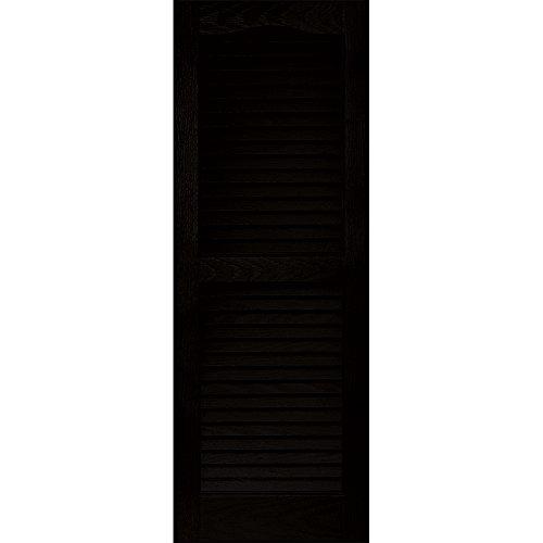Vantage 0114039002 14X39 Louver Arch Shutter/Pair 002, Black