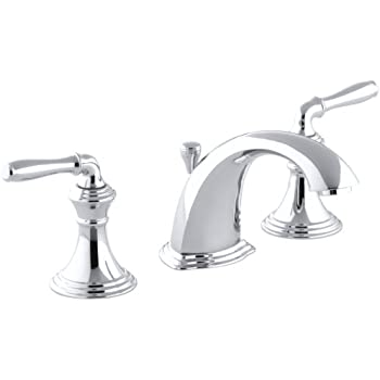 KOHLER KCP Fairfax Widespread Lavatory Faucet Polished - Kohler fairfax widespread bathroom faucet