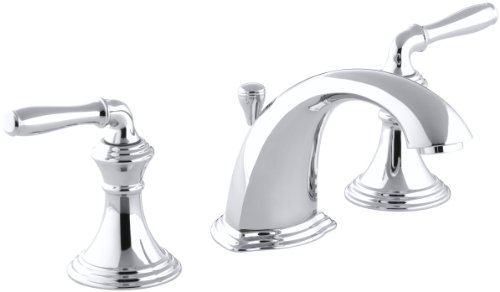KOHLER Devonshire K-394-4-CP 2-Handle Widespread Bathroom Faucet with Metal Drain Assembly in Polished ()