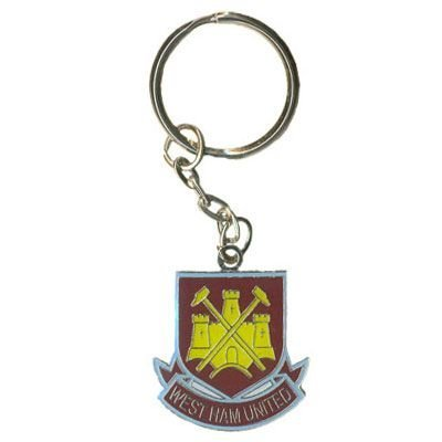 West Ham United FC. Metal Crest Keyring by West Ham United F.C. (West Ham Keyring)