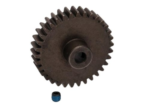 Traxxas 34-T Pinion Gear (1.0 metric pitch) and 20 Degree Pressure Angle (fits 5mm shaft)