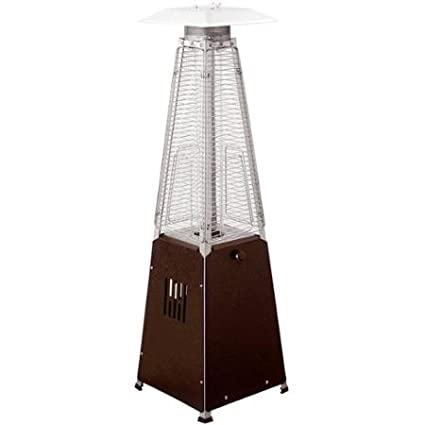 Hiland Tabletop Bronze Glass Tube Patio Heater