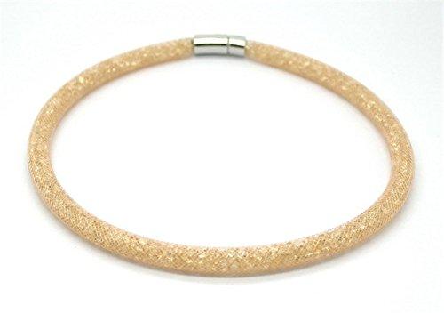 (AmaranTeen - Magnet Rhinestone Bracelet Newest Stardust Mesh Design)