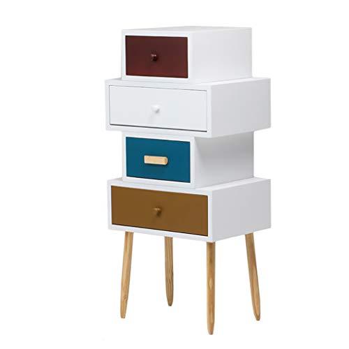 DYFYMXMesa Auxiliar Simple cajón Moderno Personalidad Creativa gabinete Armario cajonera (Tamaño : 45 * 34 * 90cm)