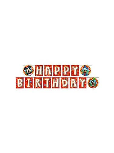 Friends Plastic Banner - Mickey Mouse 'Fun and Friends' Happy Birthday Banner (1ct)
