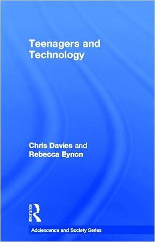teenagers and technology eynon rebecca davies chris