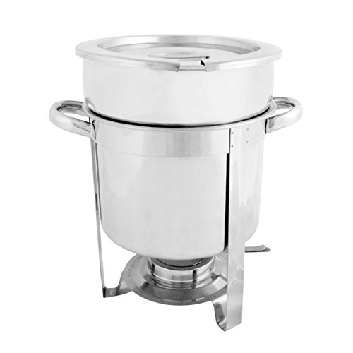 stainless steel 7 quart round marmite chafer, comes in each